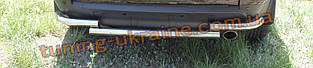 Защита заднего бампера труба изогнутая D60 на Mitsubishi Outlander 2003-2006
