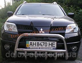 Защита переднего бампера кенгурятник низкий D60 на  Mitsubishi Outlander 2003-2006