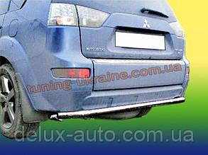Защита заднего бампера труба прямая D60 на Mitsubishi Outlander 2006-2012
