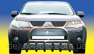 Защита переднего бампера кенгурятник низкий D60 на  Mitsubishi Outlander 2006-2012
