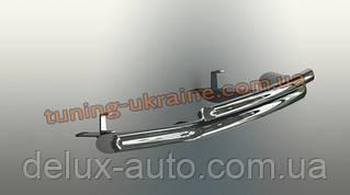 Защита переднего бампера труба двойная D60-42 на Mitsubishi Outlander 2006-2012