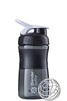 Спортивная бутылка-шейкер BlenderBottle SportMixer 590ml Black-White R144886