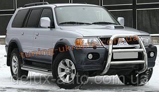 Защита переднего бампера кенгурятник высокий без защиты картера(нерж.) D60 на Mitsubishi Pagero Sport 2008+