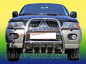Защита переднего бампера кенгурятник высокий (нерж.) D60 на Mitsubishi Pagero Sport 2002-2008