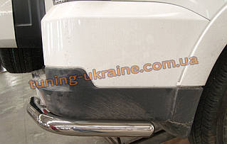 Защита заднего бампера уголки одинарные D60 на Mitsubishi Pagero Vagon 4 2007+