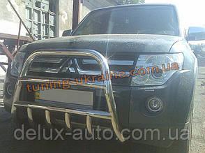 Защита переднего бампера кенгурятник высокий (нерж.) D60 на Mitsubishi Pagero Vagon 4 2007