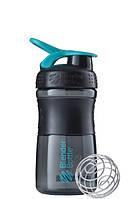 Спортивная бутылка-шейкер BlenderBottle SportMixer 590ml Black-Teal, Original - 144883