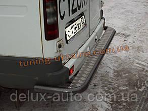 Порог задний на GAZEL-Соболь крашенный труба D60 с листом алюминиевым