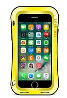 Чехол броня Love Mei Slim Waist Powerful Hybrid для iPhone 7 8 Plus Yellow, КОД: 339817