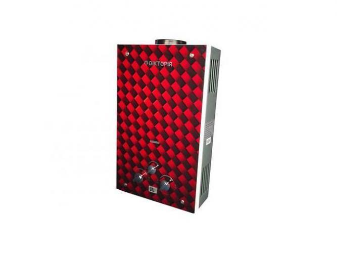 Газовая колонка Виктория JSD 08 дисплей красная