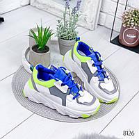Кроссовки женские Rexton белый + салатовый , женская обувь