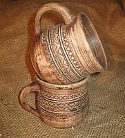 """Чашка глиняна """"Трипілля"""" 0.25л"""