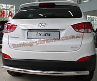 Защита заднего бампера труба прямая D60 на Hyundai IX-35 2010
