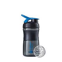 Blender Bottle, Спортивный шейкер-бутылка BlenderBottle SportMixer Cyan/Black, 500 мл, фото 1