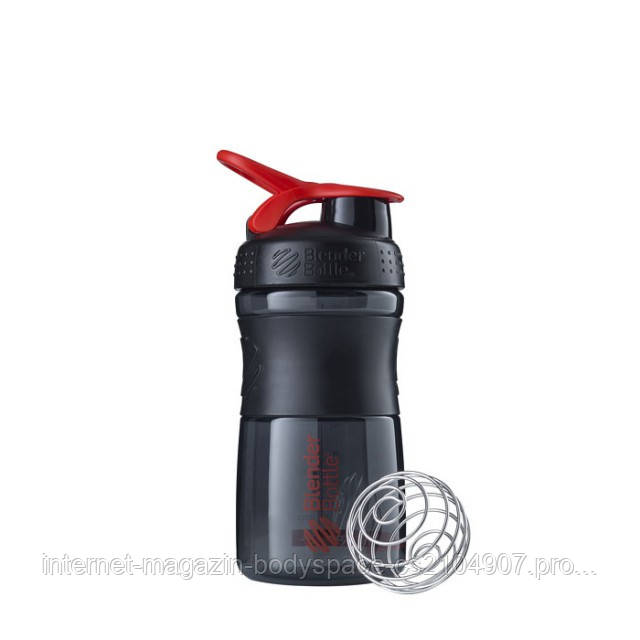 Blender Bottle, Спортивный шейкер-бутылка BlenderBottle SportMixer Red/Black, 500 мл