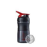 Blender Bottle, Спортивный шейкер-бутылка BlenderBottle SportMixer Red/Black, 500 мл, фото 1