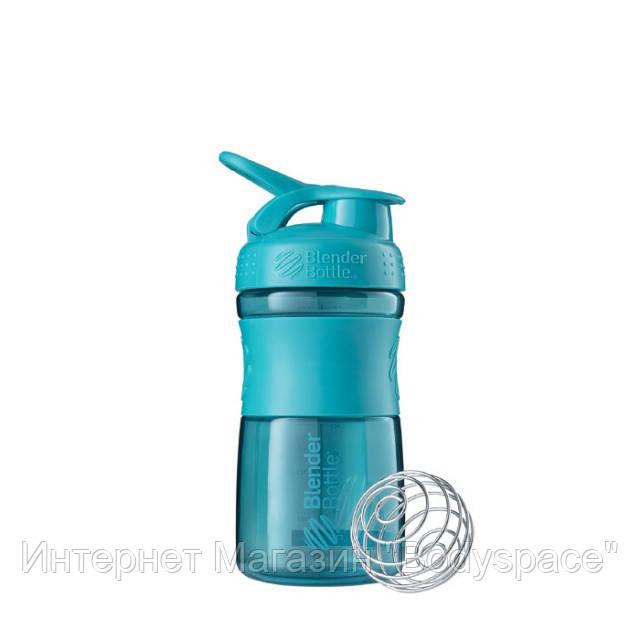 Blender Bottle, Спортивный шейкер-бутылка BlenderBottle SportMixer Teal, 500 мл
