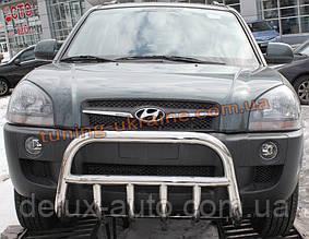 Защита переднего бампера кенгурятник низкий D60 на Hyundai Tucson 2004-2009