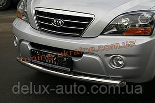 Защита переднего бампера труба одинарная D60 на Kia Sorento 2002-2009