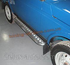 Боковые пороги  труба c листом (алюминиевым) D60 на Lada Niva 2121-21214