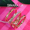 Серебряное кольцо с позолотой 3 полоски - Минималистичное кольцо в позолоте, фото 3