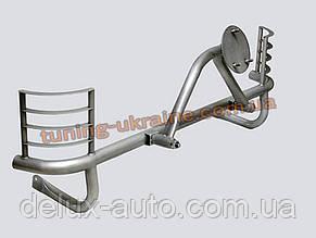 Защита заднего бампера  (крашенная) с креплением под запасное колесо и защитой фар D60 на Lada Niva 2131-21234