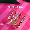 Серебряное кольцо с позолотой 3 полоски - Минималистичное кольцо в позолоте, фото 6