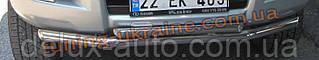 Защита переднего бампера труба двойная D60-42 на Lexus GX-470