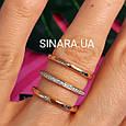 Серебряное кольцо с позолотой 3 полоски - Минималистичное кольцо в позолоте, фото 4
