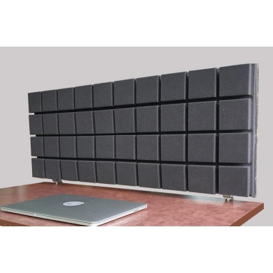 Акустическая ширма для офисных столов колл центров настольная Ecosound table 1000x400