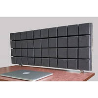 Акустическая ширма для офисных столов колл центров настольная Ecosound table 1000x400, фото 1