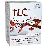 "Чай для горла и легких NOW Foods, Real Tea ""TLC"" без кофеина, 24 пакетика (48 г)"