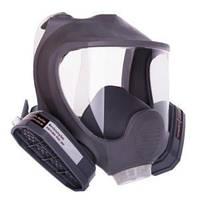 Полнолицевая маска Сталкер-3 VITA с двумя химическими фильтрами в резиновой оправе аналог 3М