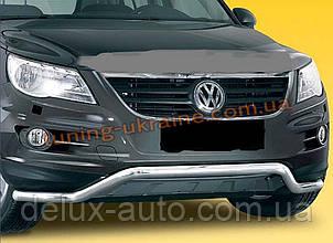 Защита переднего бампера труба изогнутая D60 на Volkswagen Tiguan 2008+