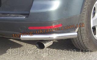 Защита заднего бампера уголки одинарные D60 на Volkswagen Touareg 2003-2010