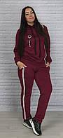 Спортивный женский костюм с капюшоном большого размера, фото 1