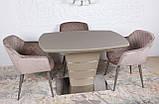 Обеденный стол ATLANTA 120/160х80 мокко сатин Nicolas (бесплатная доставка), фото 3