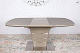 Обеденный стол ATLANTA 120/160х80 мокко сатин Nicolas (бесплатная доставка), фото 7