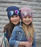 Шапка для девочки с пайетками Очки, фото 4