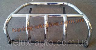 Кенгурятник на ВАЗ 2113-14-15 из нерж. стали (с защитой картера на 3 клыка) D42