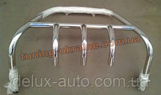 Кенгурятник на ВАЗ 2170 Приора из нерж. стали (с защитой картера на 3 клыка) D42