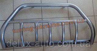 Защита переднего бампера кенгурятник крашенный (с защитой картера) D42 на ВАЗ 1117 Калина