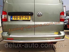 Защита заднего бампера труба прямая D60 на Volkswagen T6