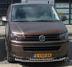 Защита переднего бампера труба двойная D60-42 на Volkswagen T6
