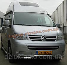 Защита переднего бампера труба изогнутая D60 на Volkswagen T6