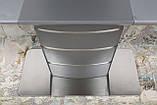 Стол обеденный раздвижной серый ATLANTA (Атланта) 140/180 графит Nicolas (бесплатная доставка), фото 9