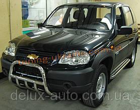 Защита переднего бампера кенгурятник низкий D60 на Chevrolet Niva 2010
