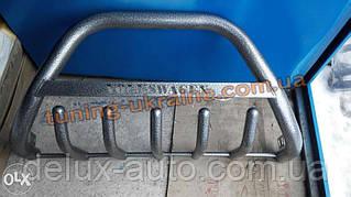 Защита переднего бампера кенгурятник крашенный на Volkswagen T4 1998-2003