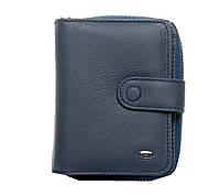 Жіночий шкіряний гаманець візитниця 9*12*3 синій, фото 1