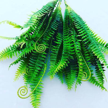 Папоротник искусственный, пластиковый зелено-желтый., фото 2